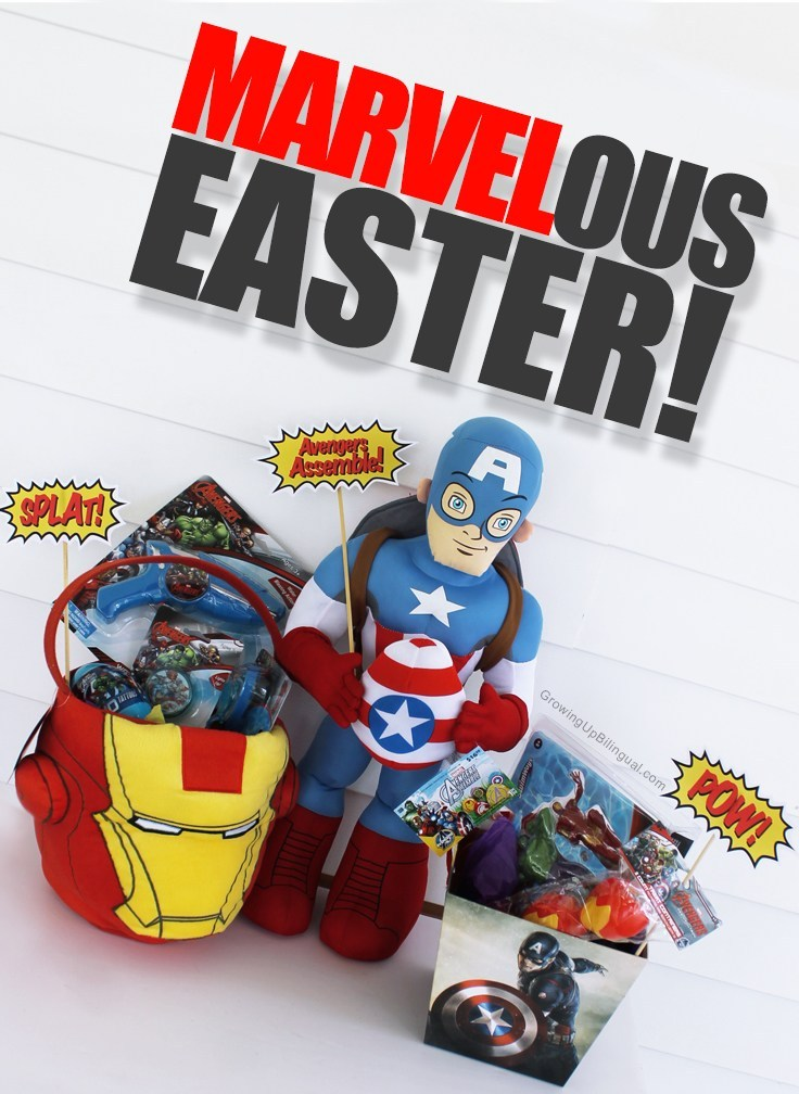 Marvel Easter basket and lots of fun Easter basket ideas for boys