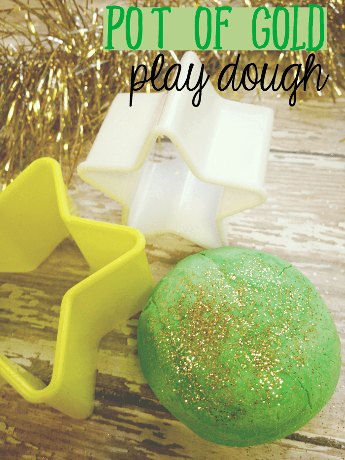 Pot of Gold Play Dough St Patrick's Day craft for kids