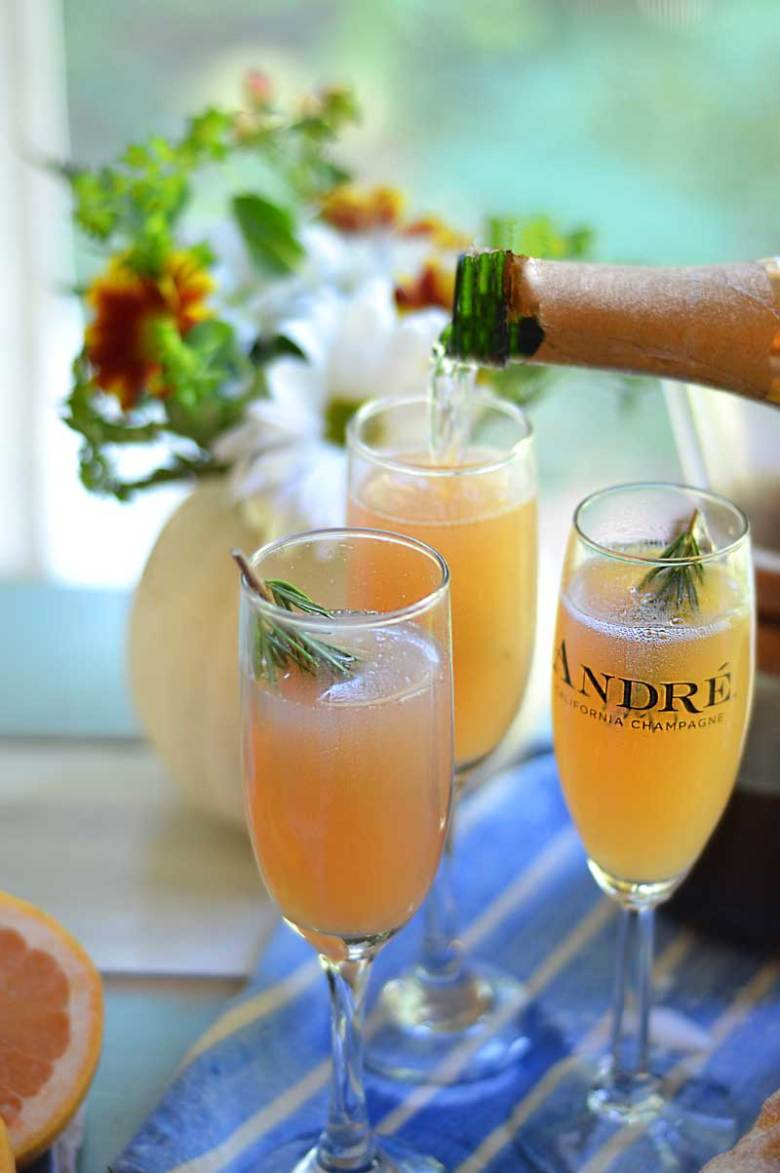 Rosemary Grapefruit Mimosa and other favorite Easter cocktails