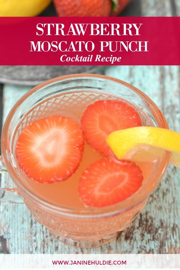 Strawberry Lemonade Moscato Punch and other favorite Easter cocktails