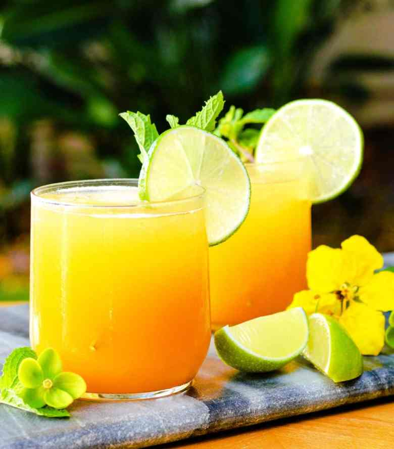 Tropical Mango Fauxjito mocktail and more non-alcoholic drink recipes for your Easter celebration