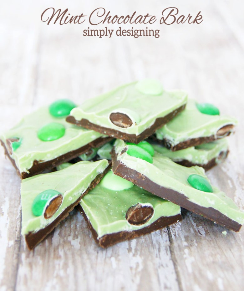 Mint chocolate bark and more delicious St Patricks day desserts