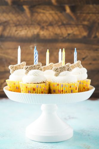 Apple and Peanut Butter Pupcakes and lots of ideas and recipes to celebrate your dog's birthday