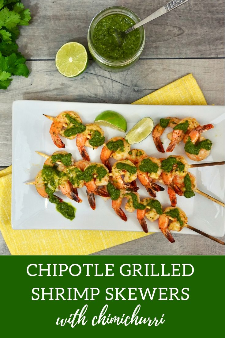 Chipotle Grilled Shrimp Skewers with Chimichurri