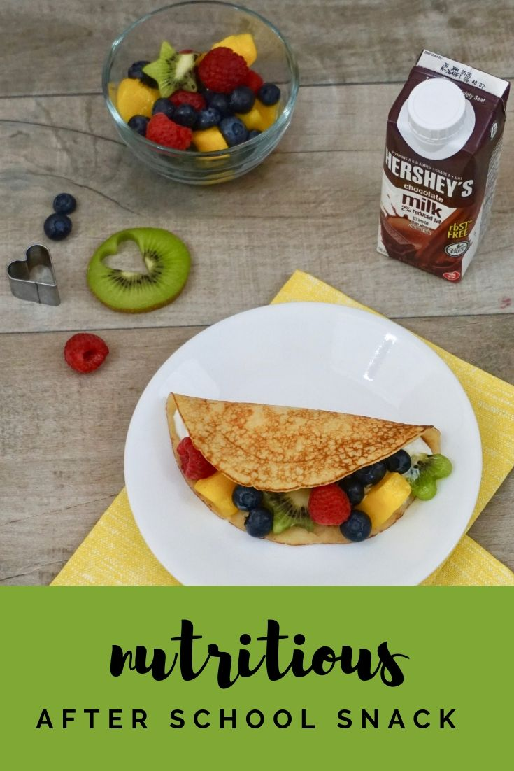 Yogurt and Fruit Crepe Tacos make for a nutritious after school snack.
