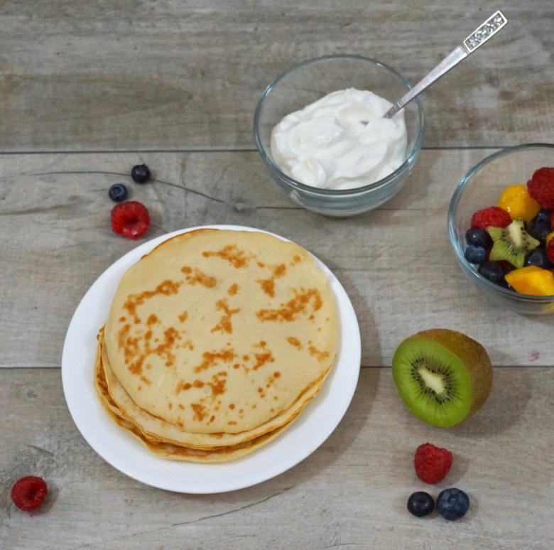 Yogurt and Fruit Crepe Tacos