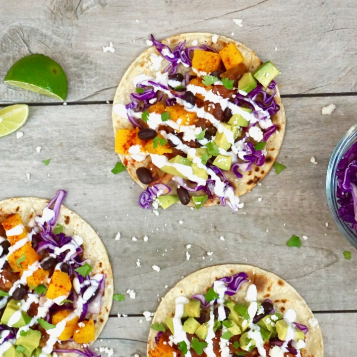 Spicy Roasted Squash Tacos