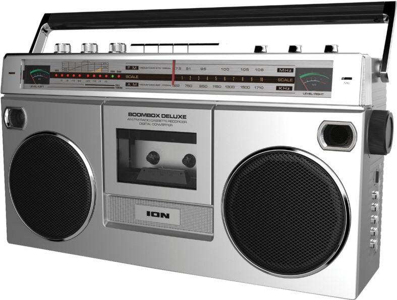 The ION Boombox Deluxe Bluetooth Speaker: Retro Style Portable Stereo and Cassette Player