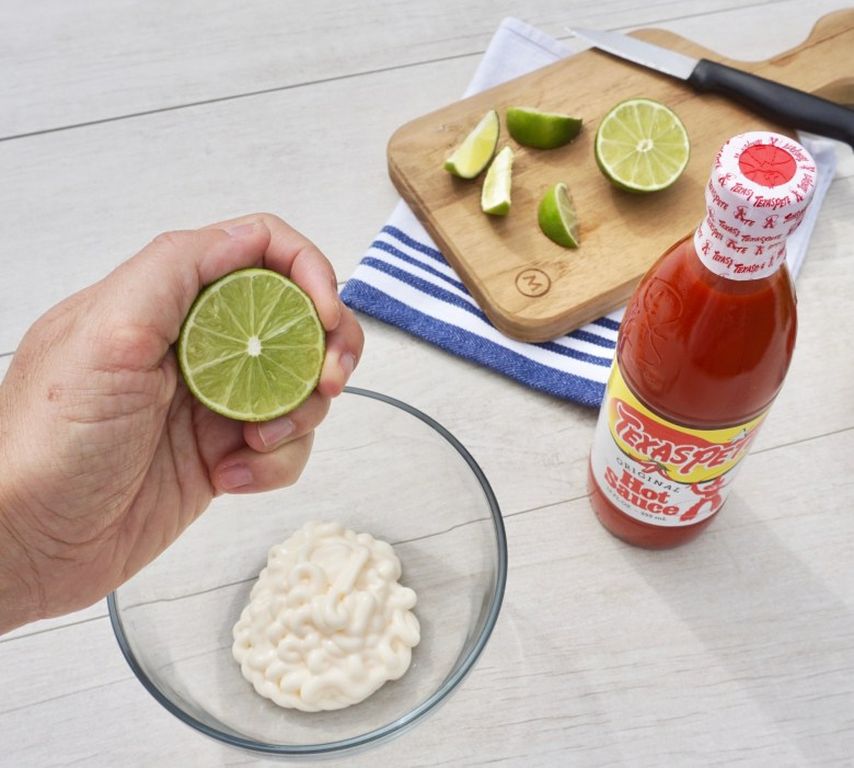 Spicy lime mayo dressing