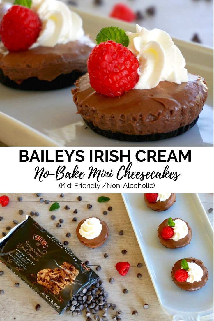 Baileys Irish Cream No-Bake Mini Cheesecakes