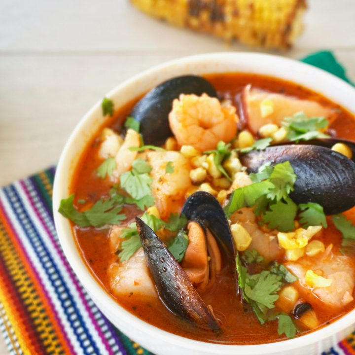 Easy Mexican spicy seafood stew