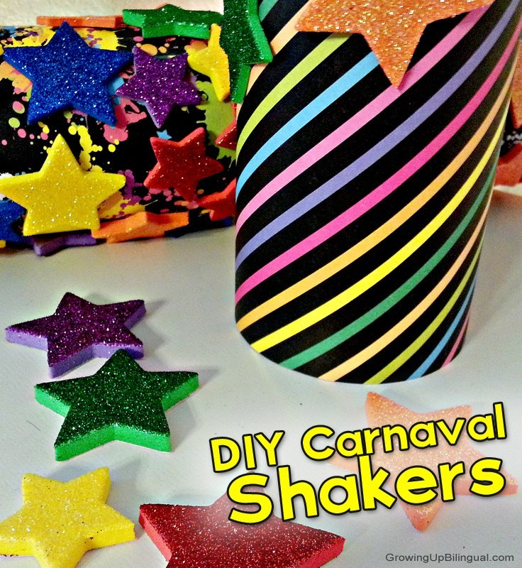 carnaval shakers and other Carnaval crafts for kids