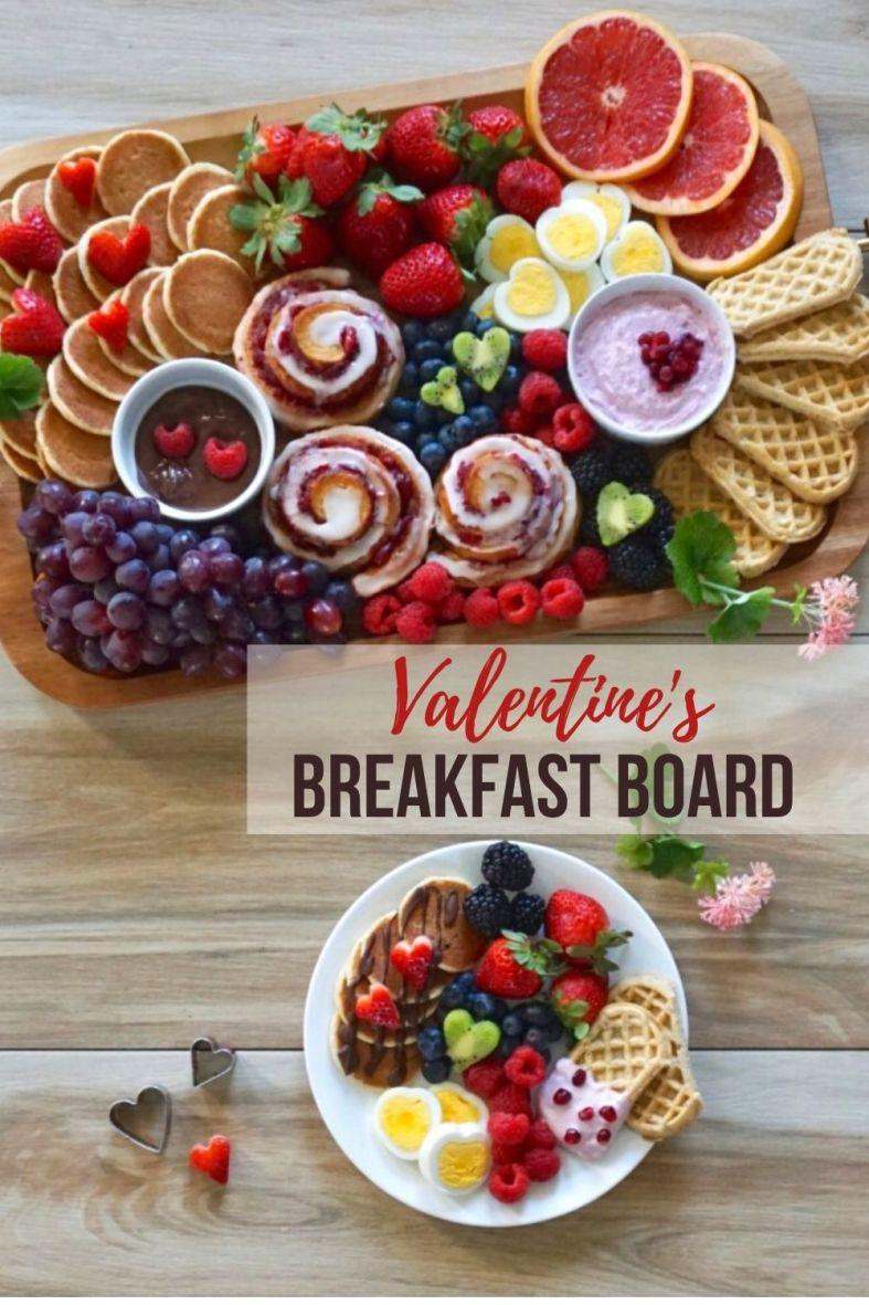 Valentines Breakfast Board