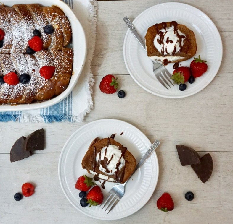 Mexican Chocolate French Toast Casserole