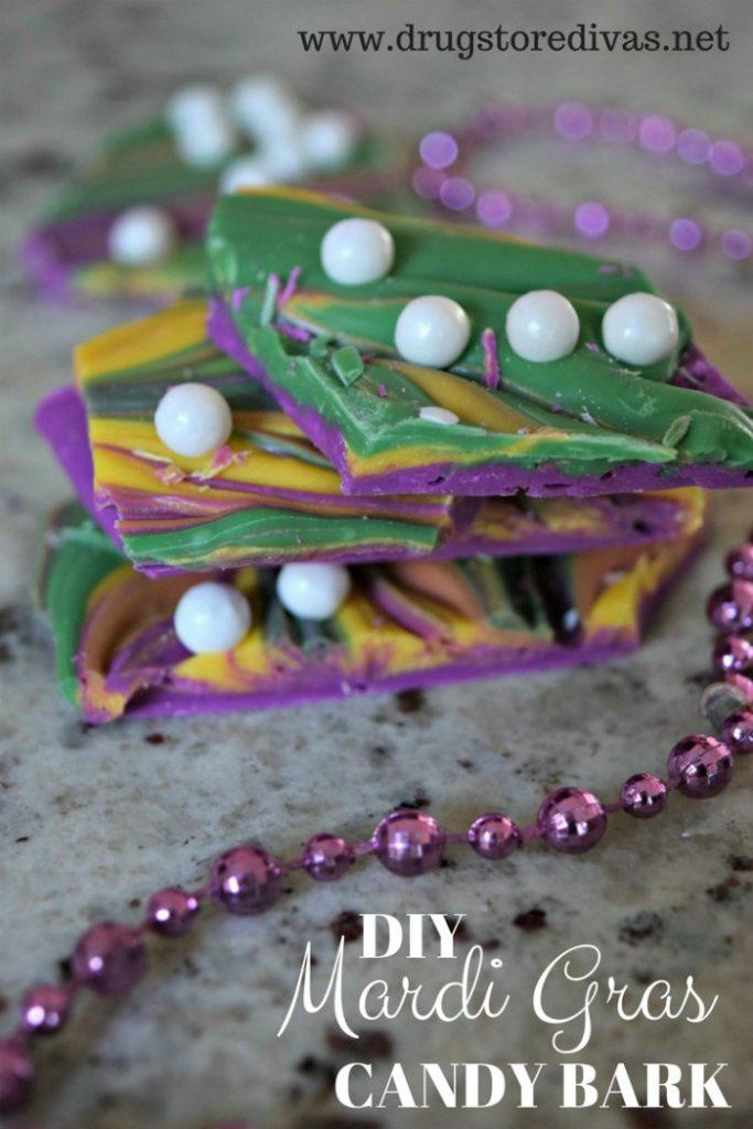 Homemade Mardi Gras Candy Bark