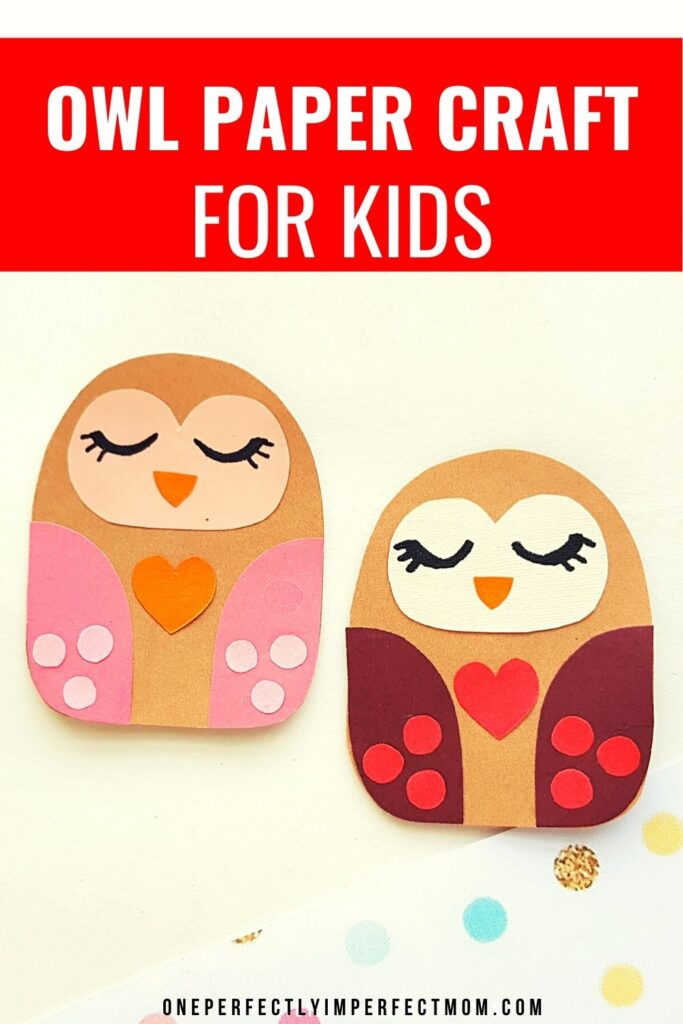 Painted owls Valentines cards craft