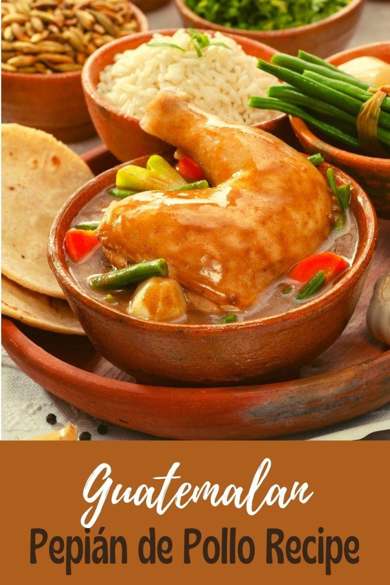 Easy recipe for Guatemalan pepian de pollo chicken stew