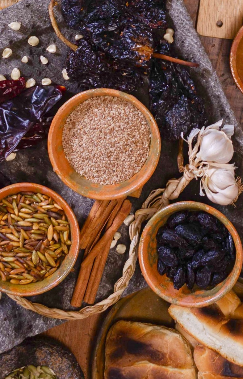 Ingredients for Guatemalan tamales