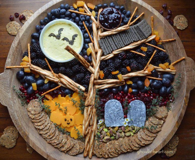 Halloween foods charcuterie boards