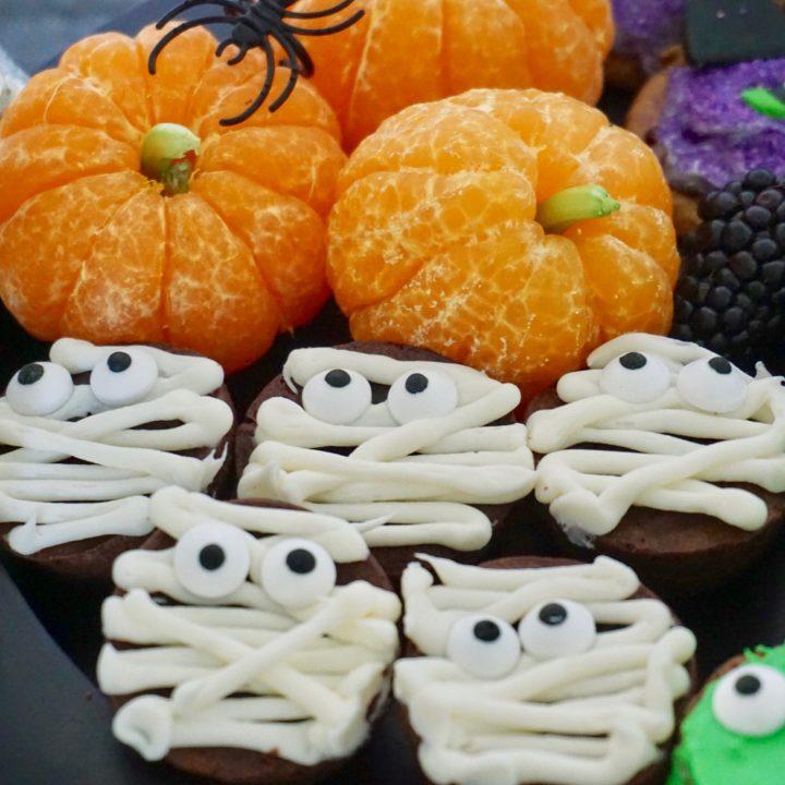 Pumpkin tangerines healthy Halloween foods for kids