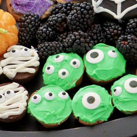 Green monster bite easy Halloween recipe
