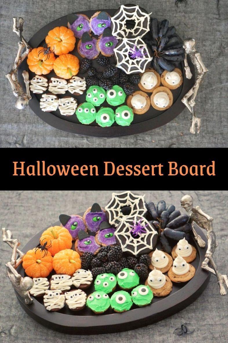 Easy Halloween dessert board