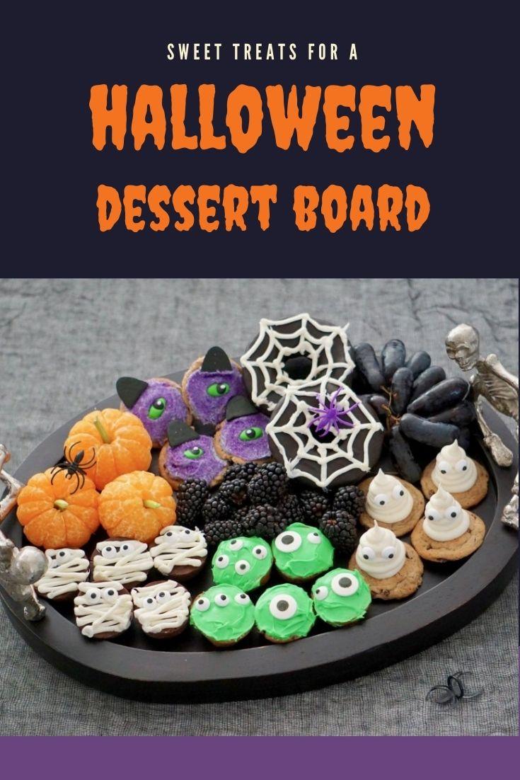 Halloween dessert board for kids