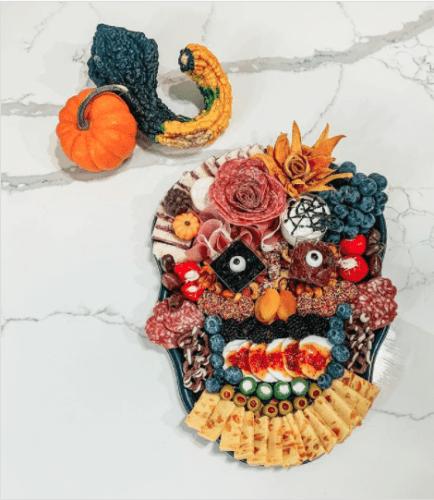 sugar skull Day of the Dead Halloween charcuterie board