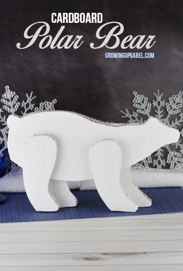 Polar Bear Craft Made From Cardboard