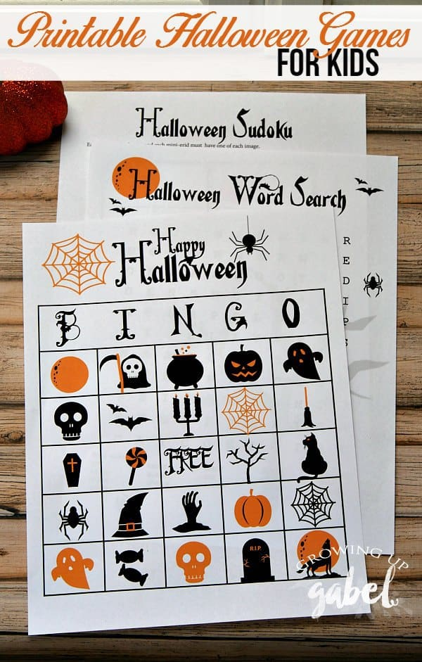 free halloween party games printables # 19