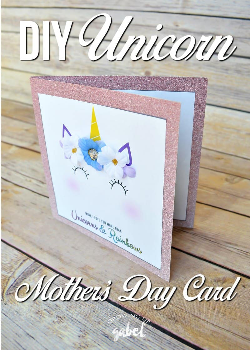 Easy Unicorn DIY Mothers Day Card