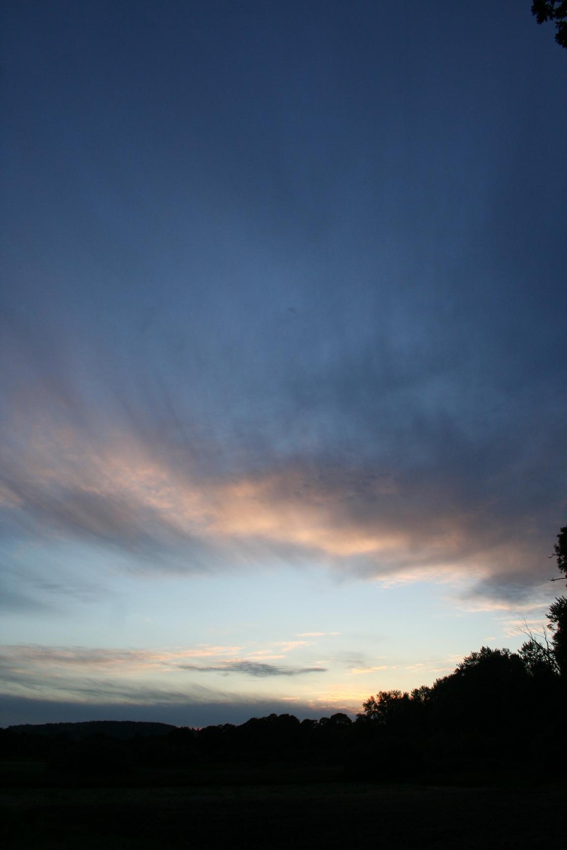 summer farm sunset
