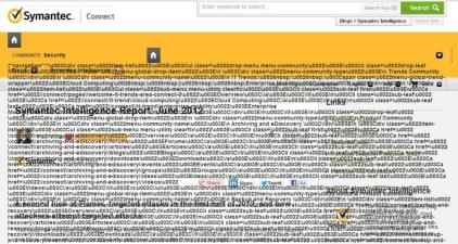 Funny Symantec page