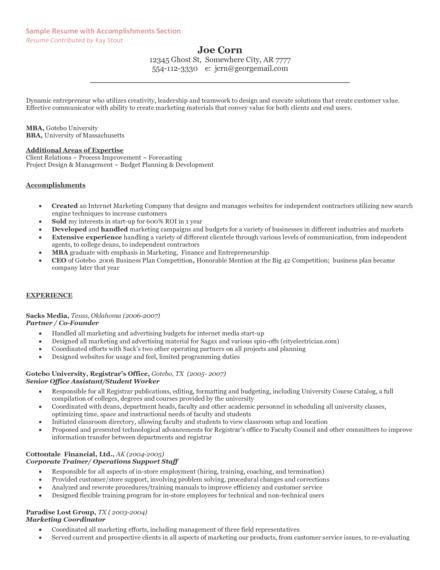 entrepreneur resume and cover letter what to include