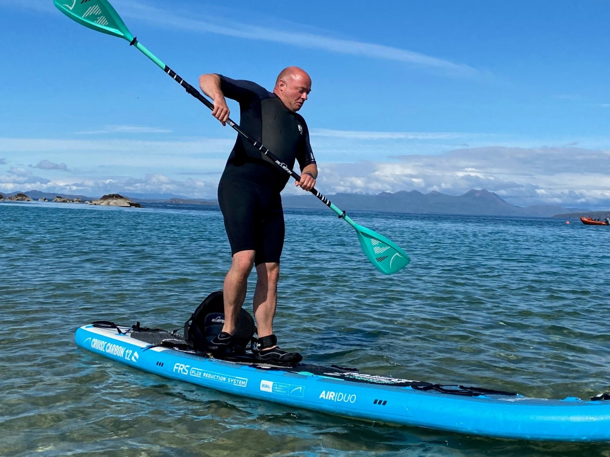 Inflation needs to be just right for the paddle board