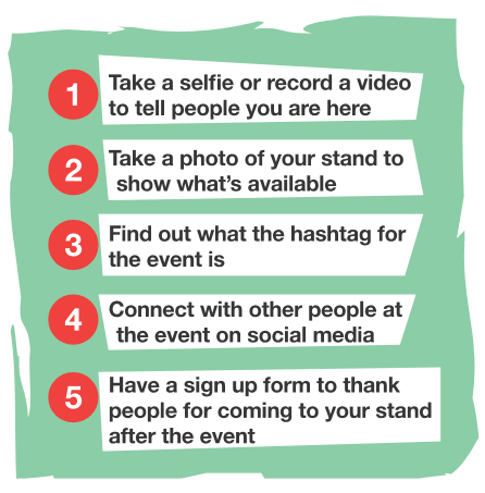 5 Things to do at events