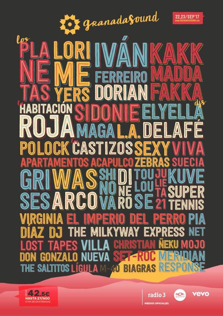 granada sound 2017 cartel completo