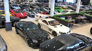 Showroom luxury cars