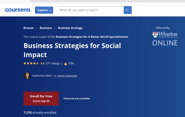 Chiến lược kinh doanh cho Doanh nghiệp Xã hội bởi Wharton Business School