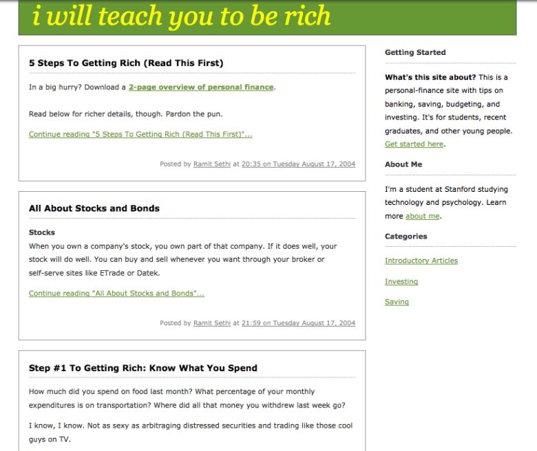 Il mio vecchio brutto blog