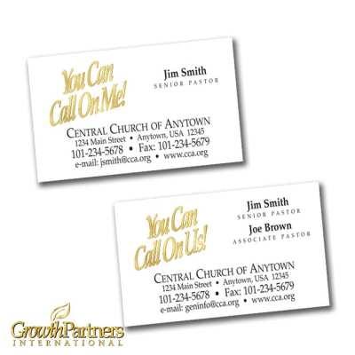 folder calling card