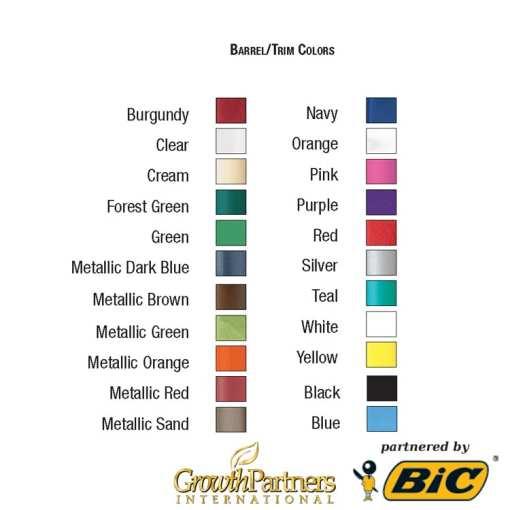 clic stic barrel and trim colors