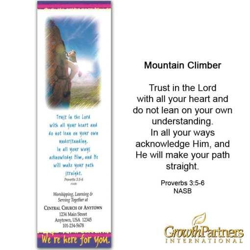 mountain climber bookmark