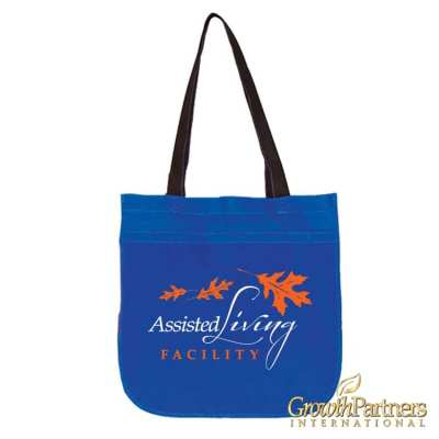 circle tote for marketing materials for assisted living facilities