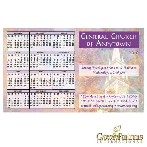 steeple calendar magnet
