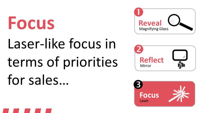 Focusing on key sales priorities