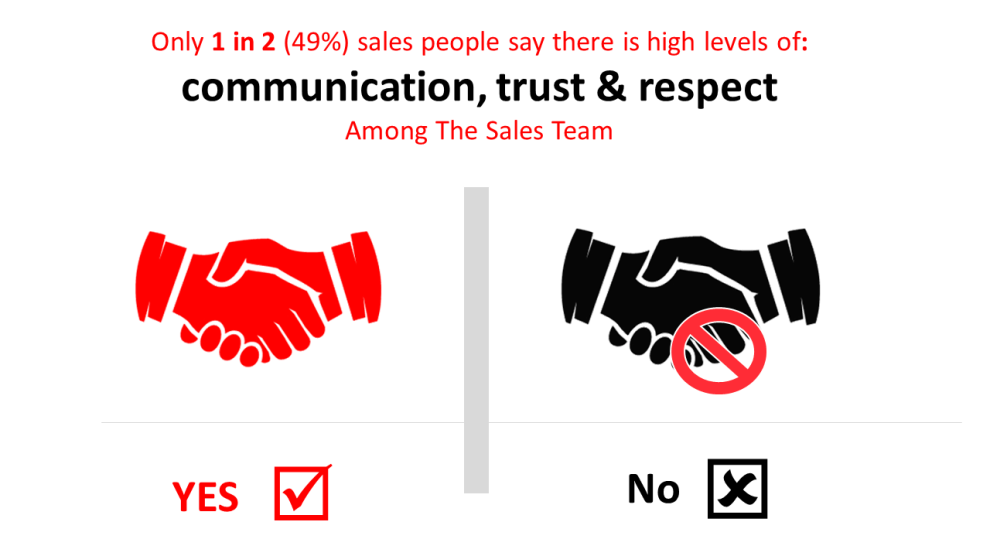 trust and respect within sales organisations