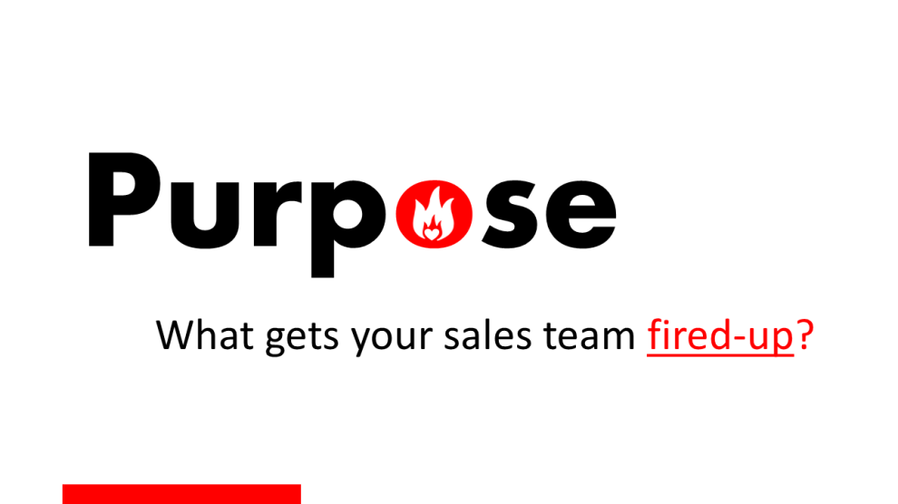 Purpose is what gets your team fired-up