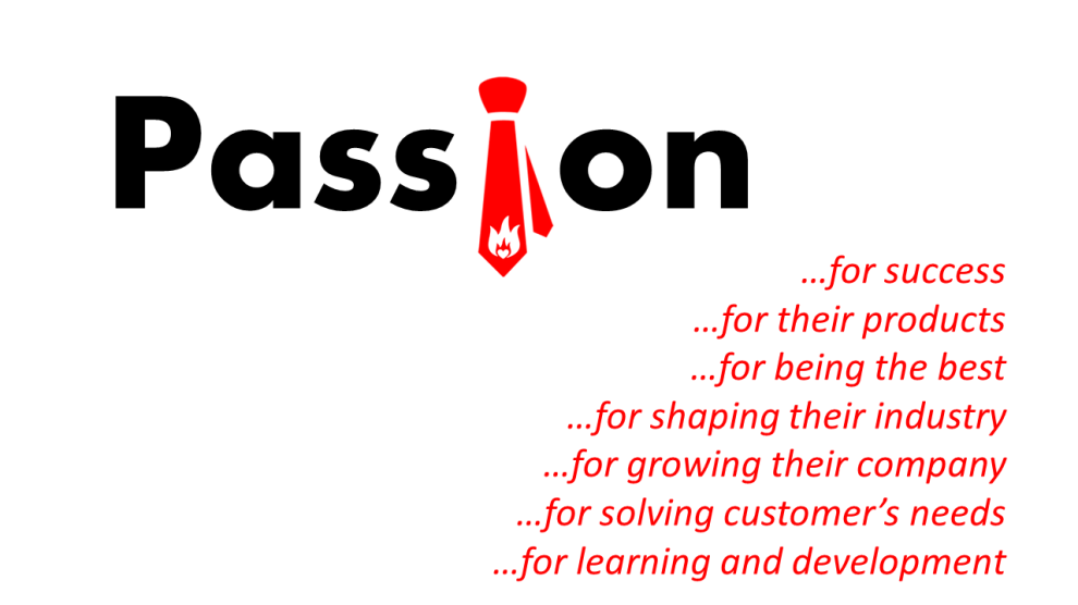 What does passion in selling mean?
