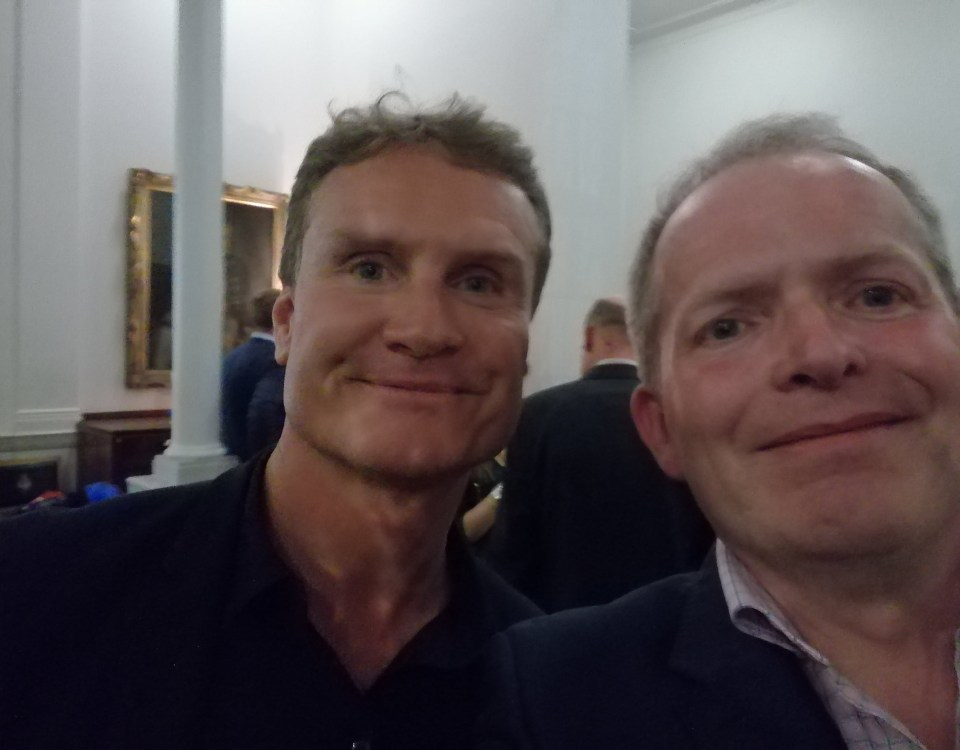 David Coulthard and Ray Collis of Growth Pitstop